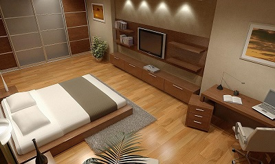 طراحی داخلی و دکوراسیون  اطاق خواب  شرکت توسعه بهینه ابنیه -